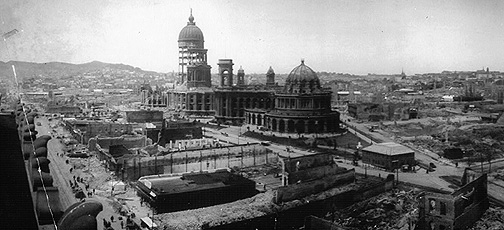 Old City Hall in ruins, San Francisco, 1906.