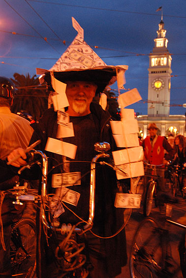 The Pyramid Scheme at the start of Halloween Critical Mass, San Francisco, 2008. Photo: Eduardo Green.