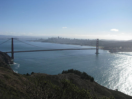 View from Hawk Hill in Marin headlands, Nov. 9, 2008.
