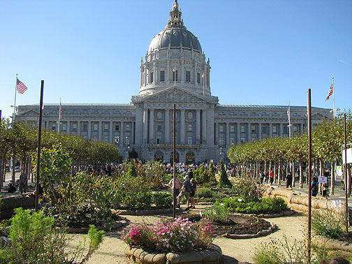 Nov. 15, Victory Garden with pro-Gay Marriage rally in front of City Hall, San Francisco