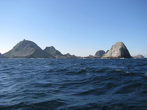 From the northeast the Farallones look mighty mysterious!