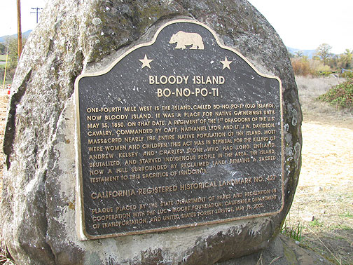 Bo-No-Po-Ti or &quot;Bloody Island&quot; 21st century plaque