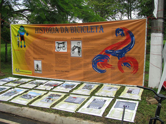 The History of the Bicycle display.