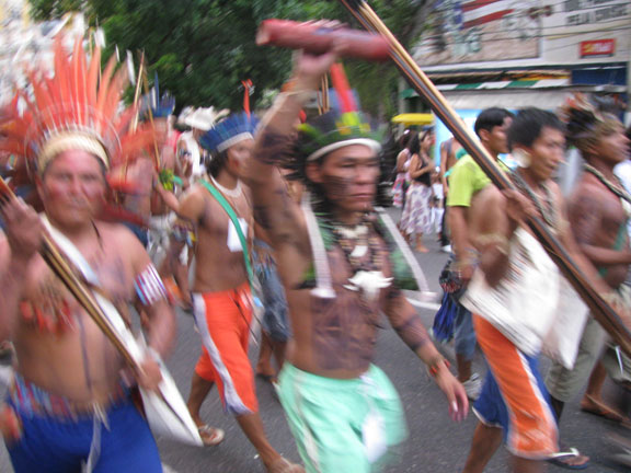 The contingent of Indians kept coming up from the rear, moving at triple the speed of the rest of us, so they came out a bit blurry!