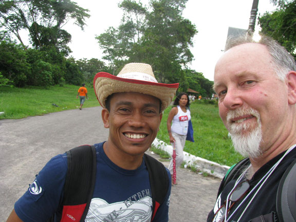 Berto, a Paranense who warmly chatted me up as we got off the ferry.