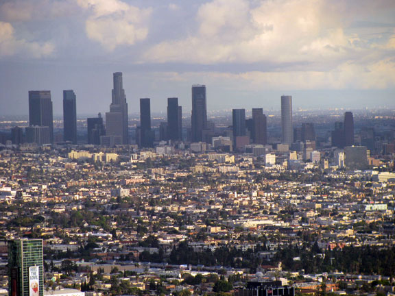 Downtown LA from Runyan Canyon.