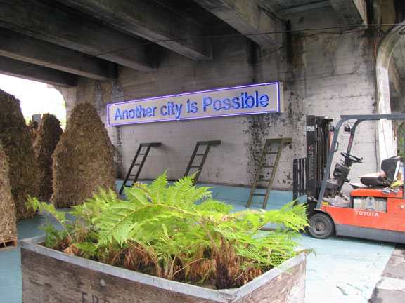 Under the Pasadena Viaduct at FarmLab.