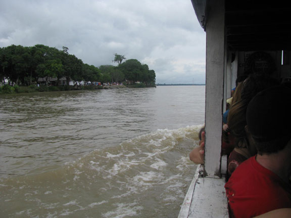 View from the ferry moving from UFPA to UFRA.