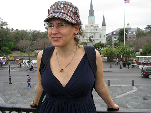 Adriana at Jackson Square, New Orleans, Feb. 28, 2009.