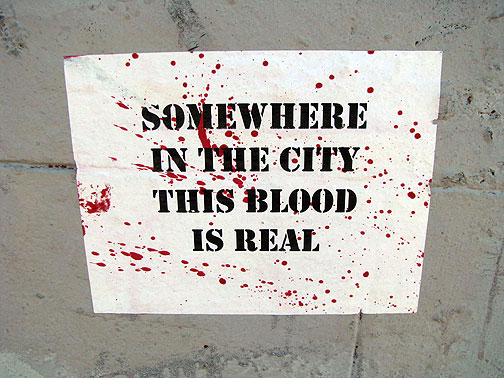 Posted in the French Quarter, March 1, 2009... 11 people were shot on Mardi Gras in New Orleans.