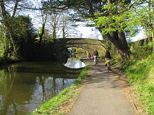 Cycle path on canal in Lancaster.