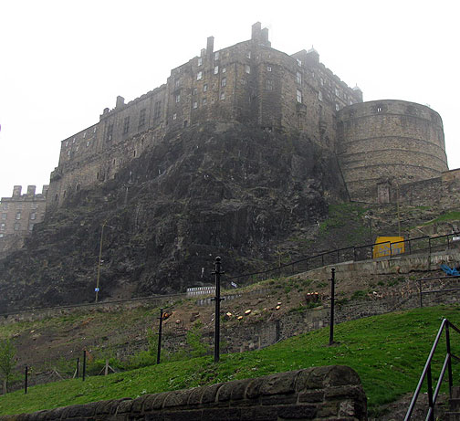 Edinburgh castle in mists on 2nd day of my visit.