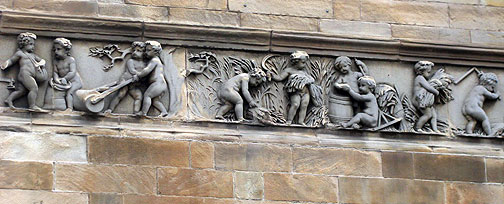 Corn nymphs adorn the old Corn Exchange near the Leith port where the AK warehouse is.
