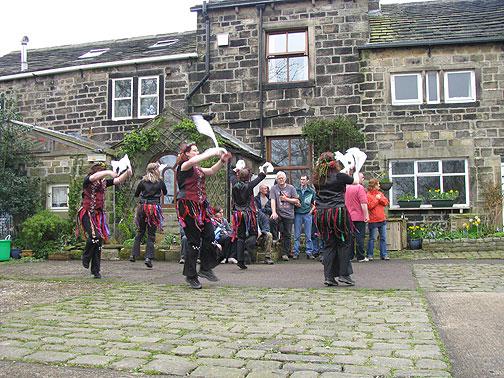 Morris dancers.