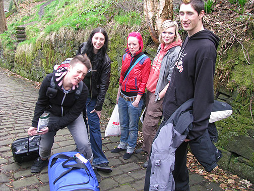 Nes, Cath, Tanya, Katie, and Tommy, my companions for the hike up to Hebdenstall.