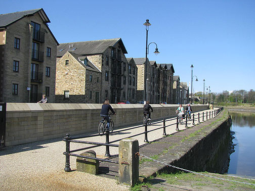 New riverside cyclepath in Lancaster.