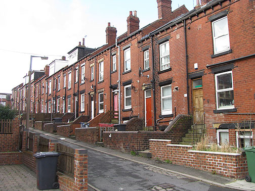 Typical Victorian Row houses in Leeds.