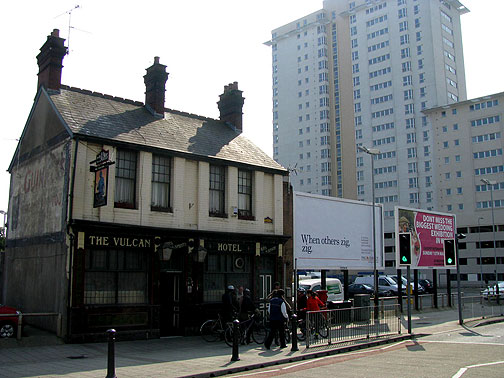 The Vulcan Pub, slated to be replaced by 50 parking spaces!