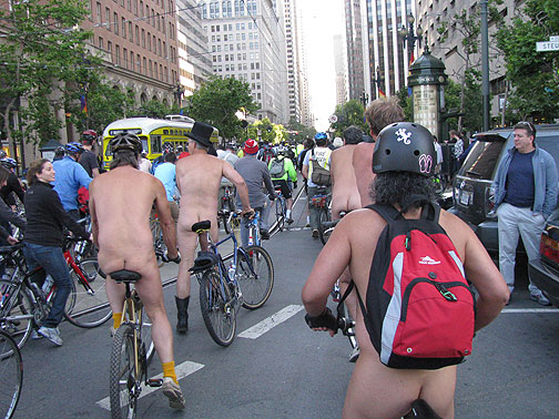 New Bike Plan! Let's Get Naked and Celebrate! Critical Mass San Francisco, June 2009.