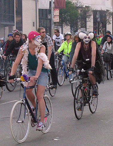 Bike and Irreligious Pride! Sisters of Perpetual Indulgence indulging in the June 09 Critical Mass...