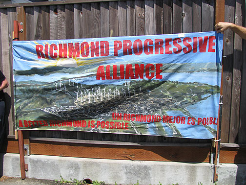 Richmond elected a Green mayor last time around, and there's definitely a growing vision of a new life growing here.