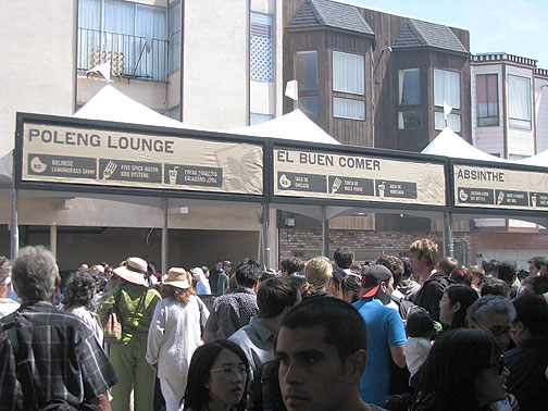The food vendors capped their wares at $8, and a number of participants were well-known, upscale restaurants, from Absinthe and Slanted Door to Delfina.