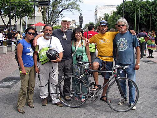 Heleana (Quito, Ecuador), Jorge (Aguascalientes, Mexico), Mariana (Mexico City), me, Jesus (Mexico City) and Bob (Ensenada and Oakland).