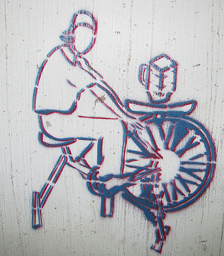 Bici Licuadora in Stencil...