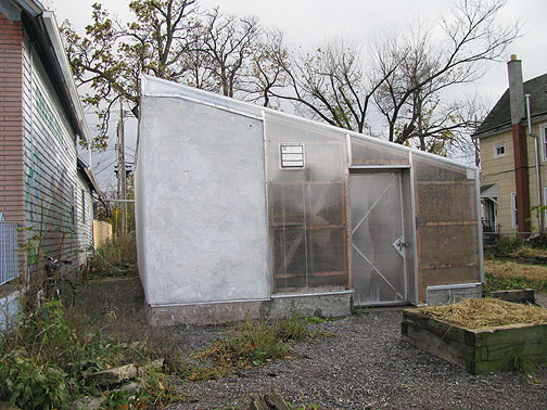 The fish farm is in here, cob-walls and a full facility built for less than $500.