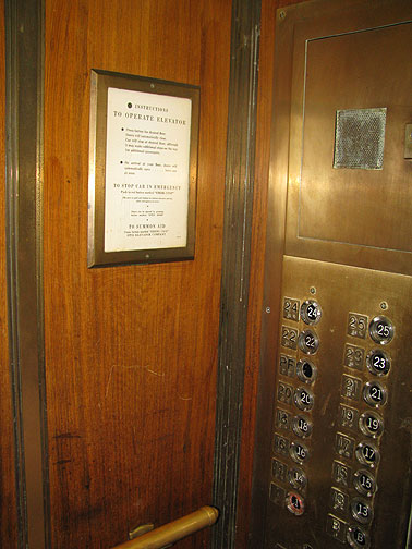 Instructions for elevator use?