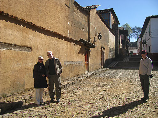 My parents and me lurking off to the side in Patzcuaro... what colors!