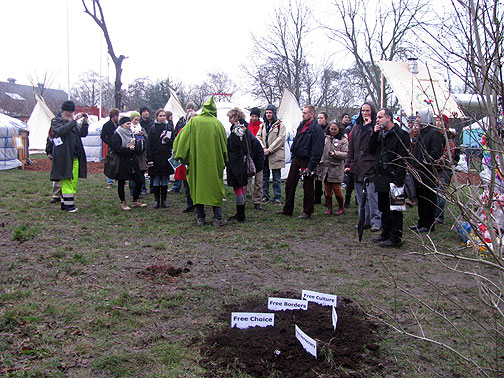 "The Daily Funeral at the Climate Bottom Conference, this one for ""Economic Growth."""