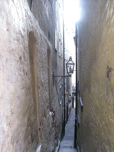A pedestrian alley in the Old City.