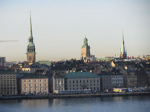 View towards the Old City from Sodermalm.