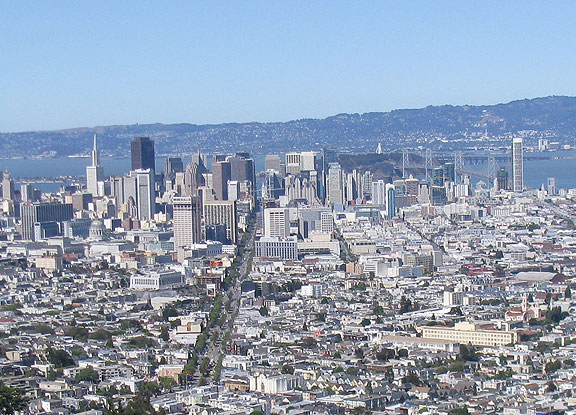 See if you can find all the construction cranes in this June 26 photo of a booming San Francisco!