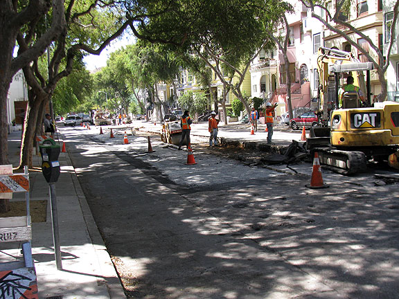 Folsom Street under reconstruction....