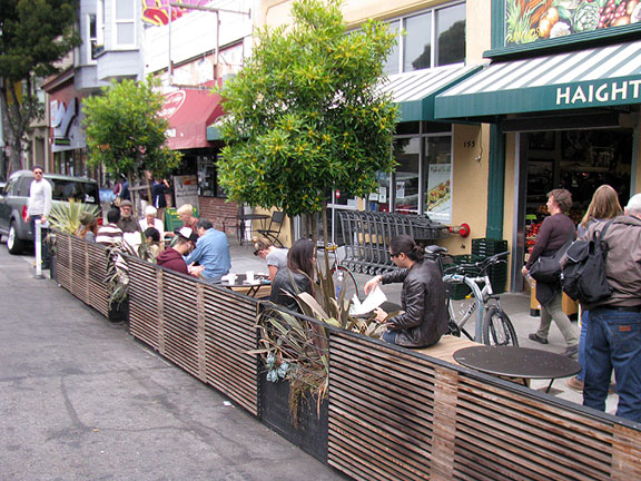 Parklet on Haight Street... the Valencia corridor probably has more than any other single area of San Francisco.