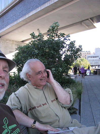 We sat down on the Highline to receive a phone call from a mutual friend in San Francisco... with Chris W.