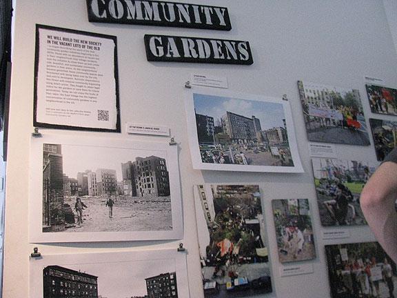 Community garden exhibit inside MORUS.
