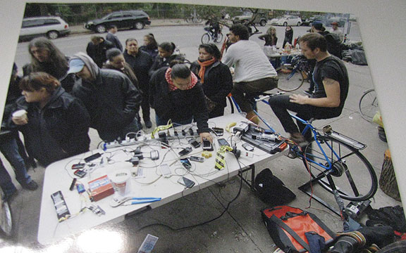 After Hurricane Sandy, cyclists helped people recharge their phones.