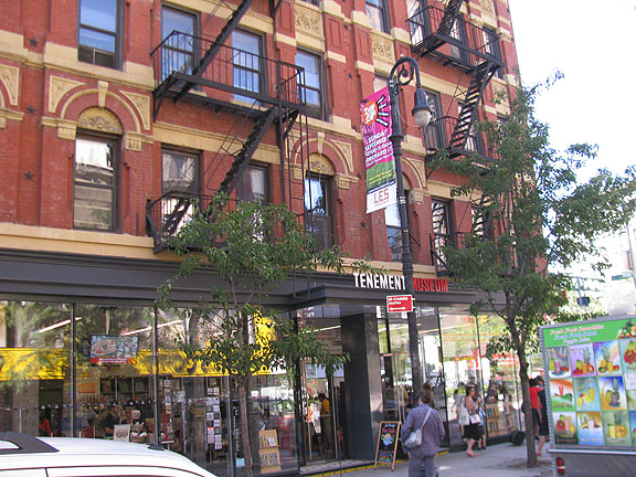 The Tenement Museum book/giftshop at Houston and Orchard.