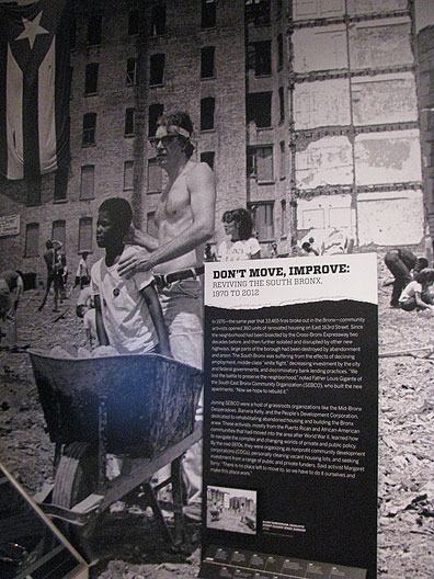 "At the ""Activist New York"" exhibit at the City Museum of New York."