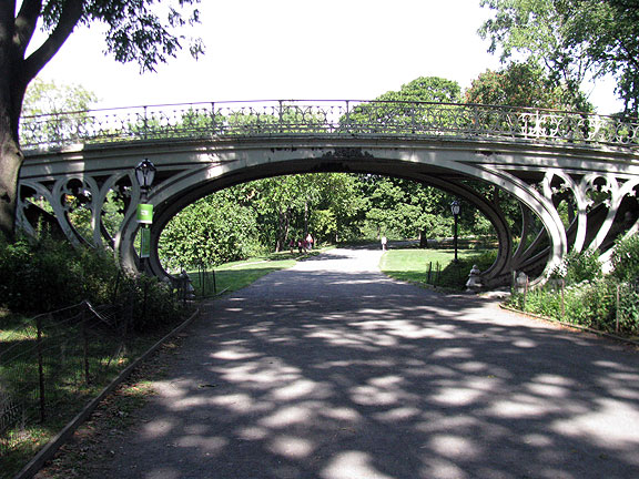 Beautiful old bridge in Central Park...