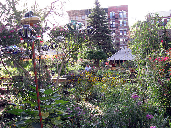 This beautiful garden is on Avenue C just across from MORUS which is in the bottom of the building at center.