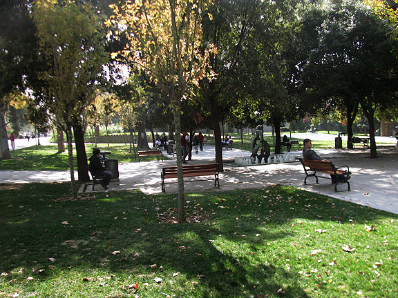 Gezi Park today... not much going on, but a comfy park on a sunny day...