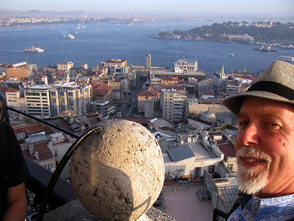 View from Galata Tower to the east across mouth of Golden Horn and Bosphorus.