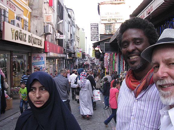 Edgard and I as we were walking back towards the Egyptian Spice Market...