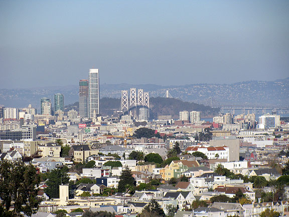 The view from Billy Goat Hill is always one of the best in the City.