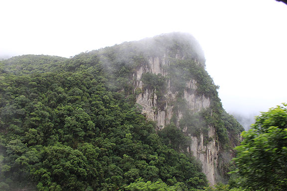 Massive granite massifs towered up out of the Atlantic Forest too.