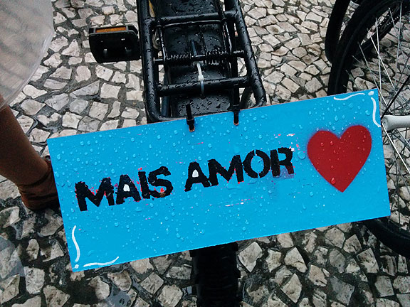 "Mais amor, or ""more love"" was the recurrent theme running through the 3rd World Bike Forum in Curitiba, Brazil."